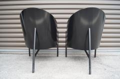 Philippe Starck Black Lacquer and Leather Pratfall Chair by Philippe Starck - 578140