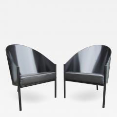 Philippe Starck Black Lacquer and Leather Pratfall Chair by Philippe Starck - 592412