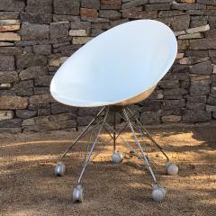 Philippe Starck Eros White Eiffel Swivel Chair Wire Base on Wheels Philippe Starck for Kartell - 1772738