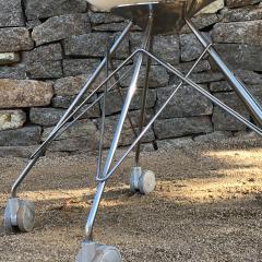 Philippe Starck Eros White Eiffel Swivel Chair Wire Base on Wheels Philippe Starck for Kartell - 1772745
