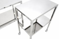 Philippe Starck Pair of Chromed Steel Side Tables Philippe Starck - 265627