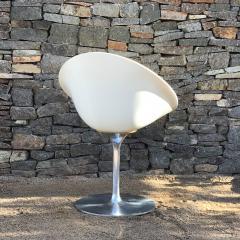 Philippe Starck Philippe Starck for Kartell Six Swivel Eros Dining Chairs White Chrome ITALY - 1772785