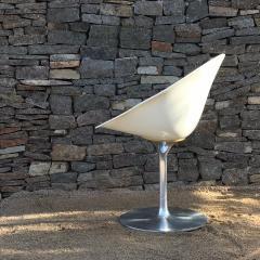 Philippe Starck Philippe Starck for Kartell Six Swivel Eros Dining Chairs White Chrome ITALY - 1772788