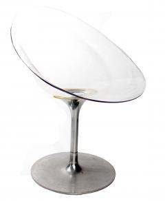 Philippe Starck Philippe Starck For Kartell Transparent Lucite Eros Swivel  Italian Chairs   495781