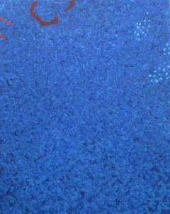 Phillip Alder Blue Cascade Contemporary Abstract Expressionist Oil Painting - 2113378