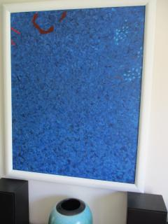 Phillip Alder Blue Cascade Contemporary Abstract Expressionist Oil Painting - 2113379