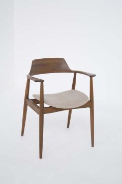 Phillip Lloyd Powell Mid Century American Armchair in Wood and Fabric attr to Phillip Lloyd Powell - 2121876