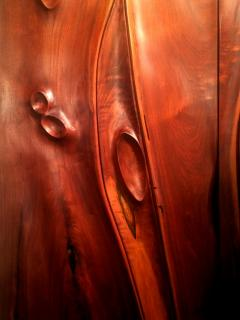 Phillip Lloyd Powell Pair of Carved Wood Doors by Phillip Powell - 41085