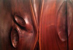 Phillip Lloyd Powell Pair of Carved Wood Doors by Phillip Powell - 41086