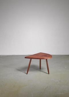 Phillip Lloyd Powell Phillip Lloyd Powell Studio Craft Walnut Side Table USA 1960s - 1112770
