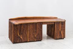 Phillip Lloyd Powell Phillip Lloyd Powell Unique Carved Desk USA - 1928944