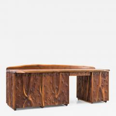 Phillip Lloyd Powell Phillip Lloyd Powell Unique Carved Desk USA - 1930137