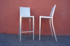 Phillipe Starck Pair of Brushed Aluminum Hudson Barstools by Philippe Starck for Emeco - 2043757