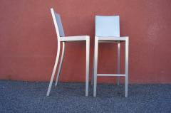 Phillipe Starck Pair of Brushed Aluminum Hudson Barstools by Philippe Starck for Emeco - 2043758