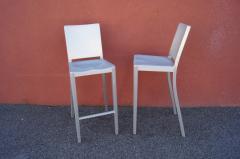 Phillipe Starck Pair of Brushed Aluminum Hudson Barstools by Philippe Starck for Emeco - 2043760