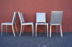 Phillipe Starck Set of Four Brushed Aluminum Hudson Chairs by Philippe Starck for Emeco - 2043745