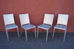 Phillipe Starck Set of Four Brushed Aluminum Hudson Chairs by Philippe Starck for Emeco - 2043746