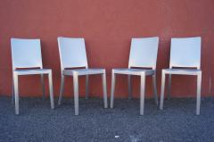 Phillipe Starck Set of Four Brushed Aluminum Hudson Chairs by Philippe Starck for Emeco - 2043747