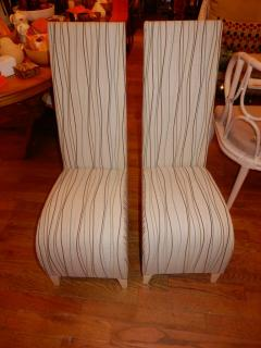 Phillippe Starck Pair of Vintage Phillipe Starck High Back Chairs - 1312037