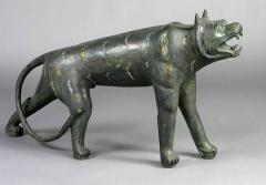 Phyllis Morris Pair of Phyllis Morris Lifesize Bronze Jungle Cat Sculptures USA c 1970s - 72550