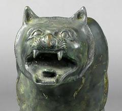 Phyllis Morris Pair of Phyllis Morris Lifesize Bronze Jungle Cat Sculptures USA c 1970s - 72551
