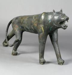 Phyllis Morris Pair of Phyllis Morris Lifesize Bronze Jungle Cat Sculptures USA c 1970s - 72553