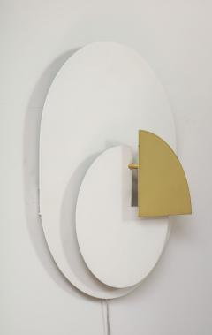 Pia Guidetti Crippa Single sconce in varnished aluminum - 1177977