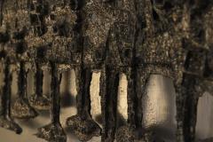 Pia Manu Pia Manu Wall Sculpture In Cast Iron And Glass Belgium Late 1960s - 1843332