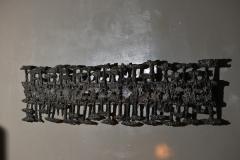 Pia Manu Pia Manu Wall Sculpture In Cast Iron And Glass Belgium Late 1960s - 1843421