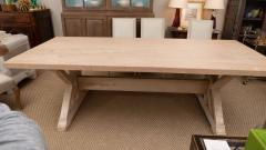 Pickled Pine Farm Table with Trestle Base - 1100080