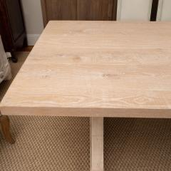 Pickled Pine Farm Table with Trestle Base - 1100081