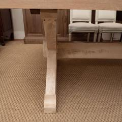 Pickled Pine Farm Table with Trestle Base - 1100083