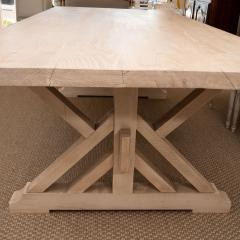Pickled Pine Farm Table with Trestle Base - 1100084
