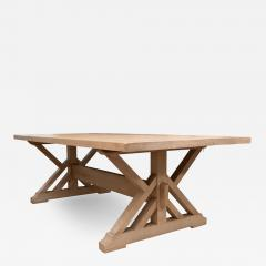 Pickled Pine Farm Table with Trestle Base - 1100930