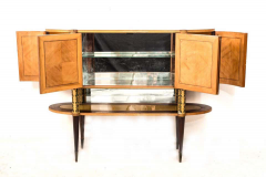 Pier Luigi Colli Italian Midcentury Oval Shaped Rare Bar Cabinet or Sideboard by Pierluigi Colli - 1701743