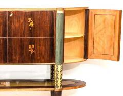 Pier Luigi Colli Italian Midcentury Oval Shaped Rare Bar Cabinet or Sideboard by Pierluigi Colli - 1701745