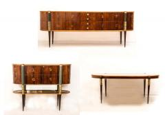 Pier Luigi Colli Italian Midcentury Oval Shaped Rare Bar Cabinet or Sideboard by Pierluigi Colli - 1701757