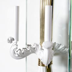 Pier Luigi Colli Lacquered metal brass and glass hall lantern by Pier Luigi Colli - 2005921
