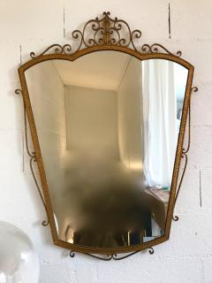Pier Luigi Colli Mirror Wrought Iron Gold Leaf by Pier Luigi Colli Italy 1950s - 909369