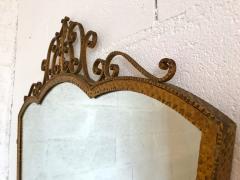 Pier Luigi Colli Mirror Wrought Iron Gold Leaf by Pier Luigi Colli Italy 1950s - 909370