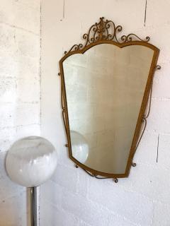 Pier Luigi Colli Mirror Wrought Iron Gold Leaf by Pier Luigi Colli Italy 1950s - 909372