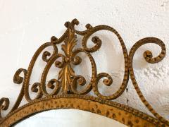 Pier Luigi Colli Mirror Wrought Iron Gold Leaf by Pier Luigi Colli Italy 1950s - 909374