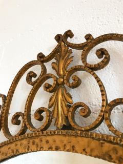 Pier Luigi Colli Mirror Wrought Iron Gold Leaf by Pier Luigi Colli Italy 1950s - 909375