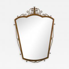 Pier Luigi Colli Mirror Wrought Iron Gold Leaf by Pier Luigi Colli Italy 1950s - 911189