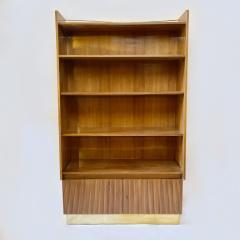 Pierluigi Spadolini Pierluigi Spadolini Mid Century Modern Walnut Libraries with Brass Details Pair - 1984684