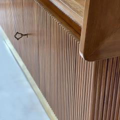 Pierluigi Spadolini Pierluigi Spadolini Mid Century Modern Walnut Libraries with Brass Details Pair - 1984688