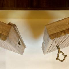Pierluigi Spadolini Pierluigi Spadolini Mid Century Modern Walnut Libraries with Brass Details Pair - 1984693