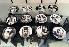 Piero Fornasetti A Set of Twelve Iconic Julia plates by Fornasetti for Rosenthal - 705996