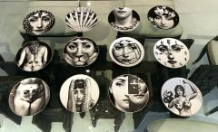 Piero Fornasetti A Set of Twelve Iconic Julia plates by Fornasetti for Rosenthal - 705998