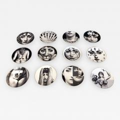 Piero Fornasetti A Set of Twelve Iconic Julia plates by Fornasetti for Rosenthal - 706851